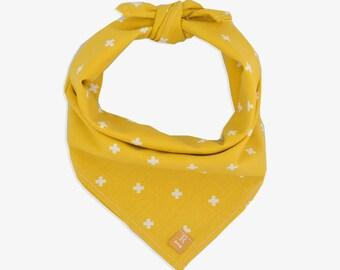 Yellow Dog Bandana // dog bandana // bandana dog // dog scarf // dog lover gift // gift for her // dog bandana yellow // christmas gift