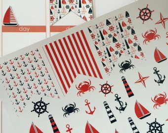 Planner Stickers Flags Nautical Stickers Fits Erin Condren Planner