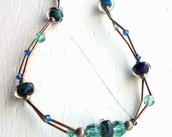 Handcrafted Borosilicate, Hill Tribe Silver Necklace