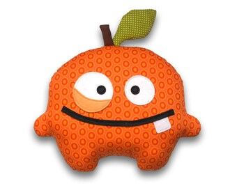 Orrico the orange  easy sewing pattern PDF stuffed food toy