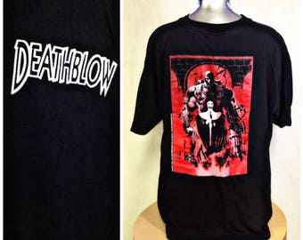 VIntage DEATHBLOW.1993 Comic ,Graphic tee