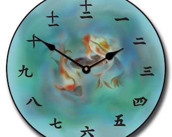 Japanese Koi Wall Clock
