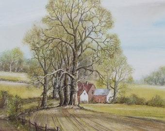 Spring landscape, Derbyshire