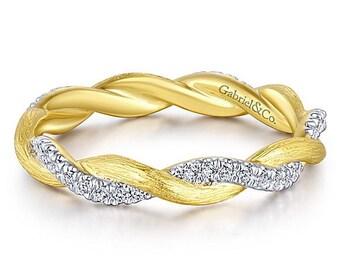 14k Yellow Gold Eternity Ring