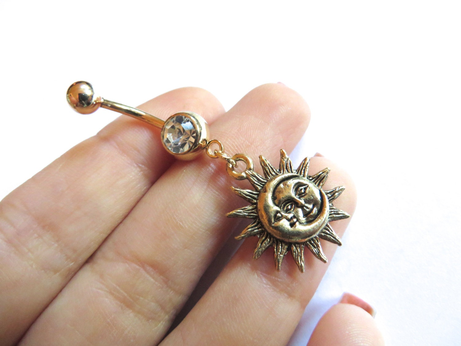 post the free products gem bars filigree belly gold button rings handmade rose