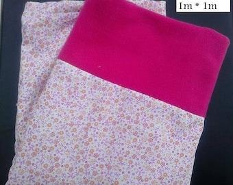 Large fleece blanket - cotton for baby or newborn