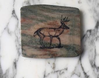 Natural Stone Coaster - Deer