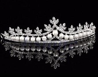 Girls princess crystal bridal tiara trendy headband wedding bride Tiaras and Crowns for rhinestone hair accessories
