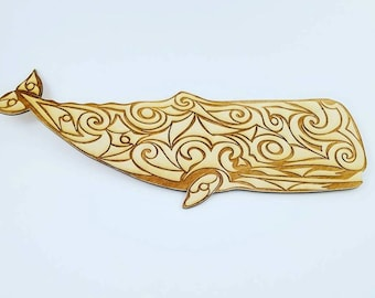 Whale Decor - Inspired by a traditional Inuit Tribal design