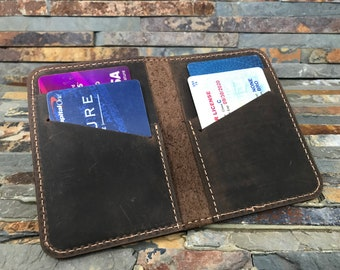 Cowhide Leather Wallet, Personalized Leather Wallet, Front Pocket Slim Design, Minimalist Credit Card Wallet, Men's Wallet,  FREE Shipping