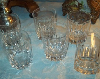 6 French vintage juice glasses or vintage, good quality glass.