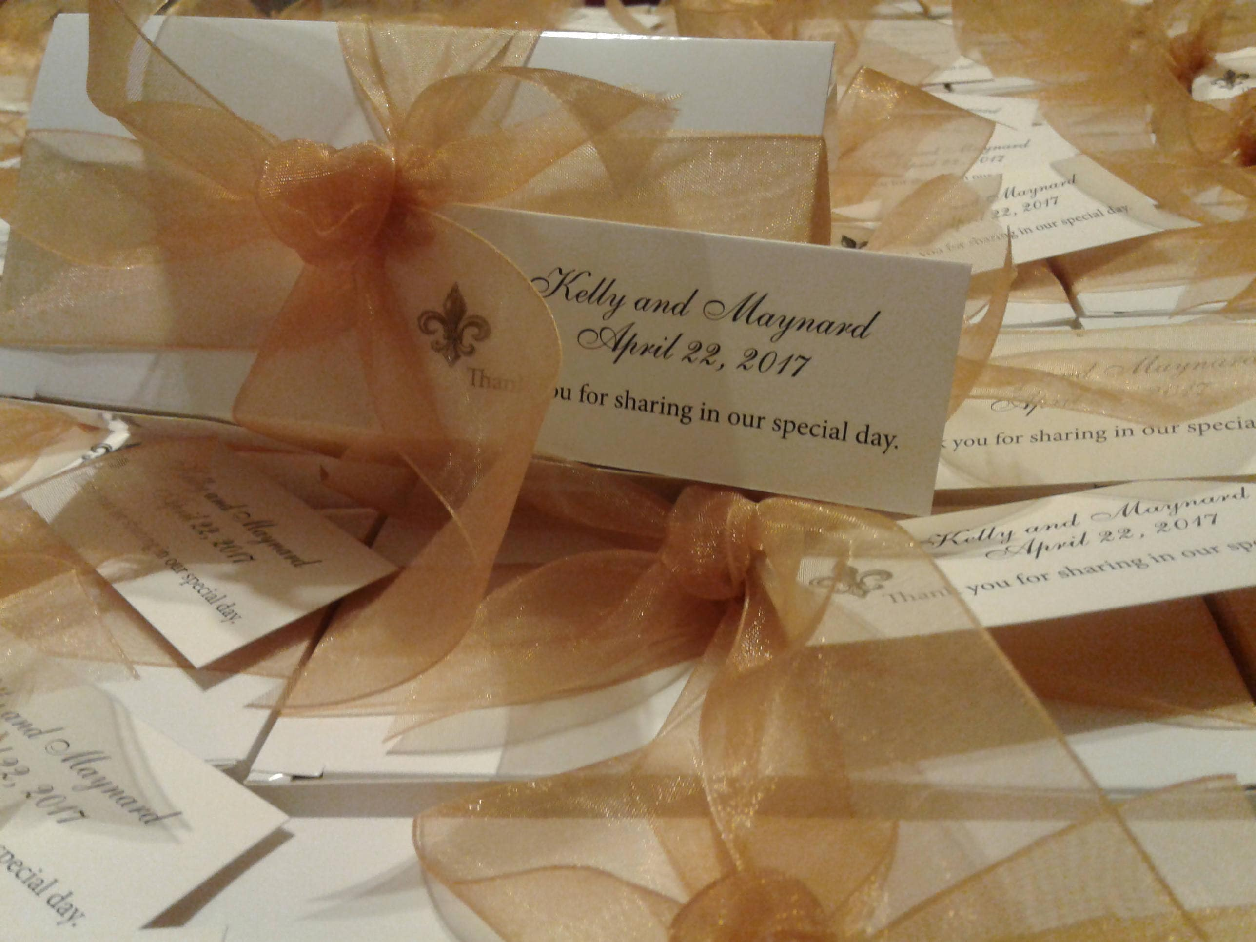 Elegant Wedding Favors for that Very Special Day. Taste of New ...