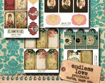 Printable Journaling Cards and More II 'Endless Love'