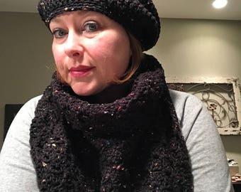 Crochet Slouchy Hat Set