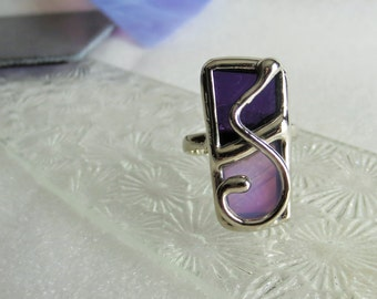Stained glass purple ring