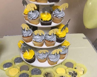 Elephant cupcake toppers - set of 12