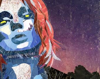 "X-Men Mystique-Inspired 10x10"" Collage"