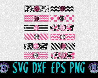 iPhone Charger Monogram Wraps SVG Set of 12, Chevron, Paisley, Polka Dot, Stripes, Wraps EPS PNG dxf