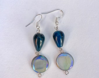 Blueish Green Drop Earrings