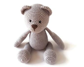Newborn Photo Prop - Stuffed Teddy Bear - Plush Teddy Bear - Classic Teddy Bear - Teddy Bear Plushie - Stuffed Teddy Bear Toy - Crochet Bear