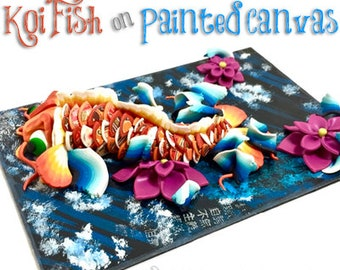Polymer Clay & Mixed Media KOI FISH Tutorial by Katie Oskin of KatersAcres