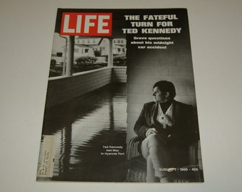 Vintage LIFE Magazine August 1 1969 Ted Kennedy Story - Paper ephemera, Vintage Ads, Collectible