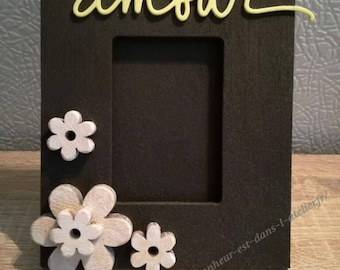 """""""Love"""" wooden picture frame"""
