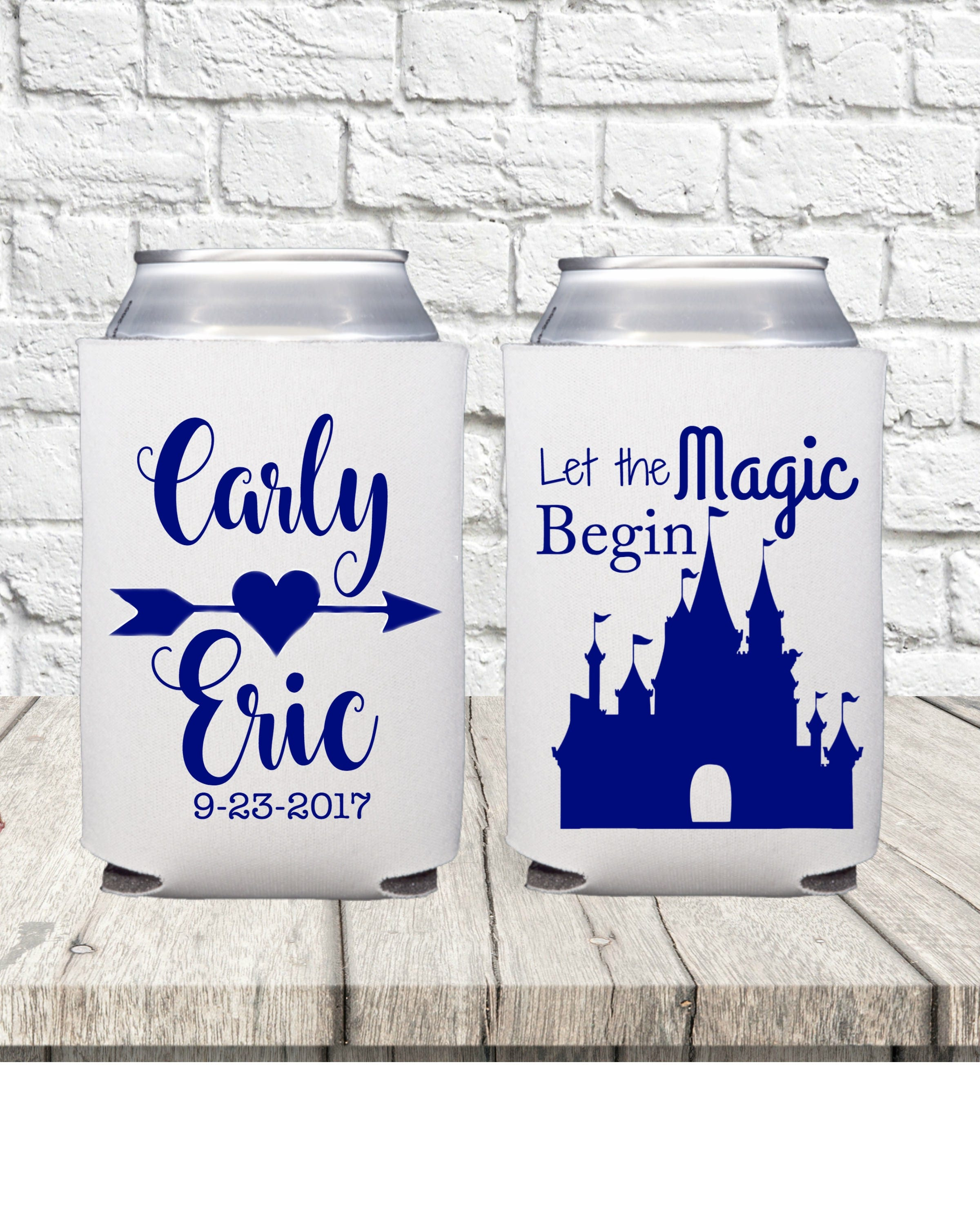 Theme Parky Wedding Favors Wedding Can Coolers Castle Party
