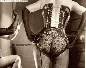 Magazine Lingerie Underwear  Burlesque - Paris-Hollywood Magazine 1950  Exotic  Very Hard To Find Magazine   from France  Pinups   mature