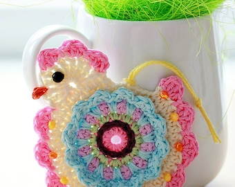Crochet Pattern - Happy Crochet Chick (Pattern No. 055) - INSTANT DIGITAL DOWNLOAD