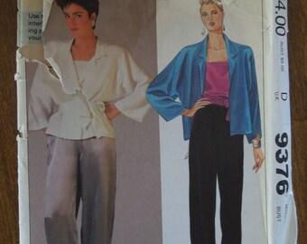 McCalls 9376, size 12, top, camisole, pants, tie belt, UNCUT sewing pattern, craft supplies