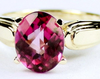 Pure Pink Topaz, 10Ky Gold Ring, R058
