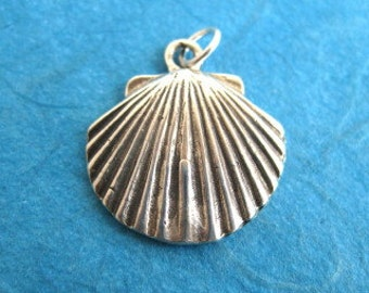 Sterling Silver Scallop Sea Shell Charm