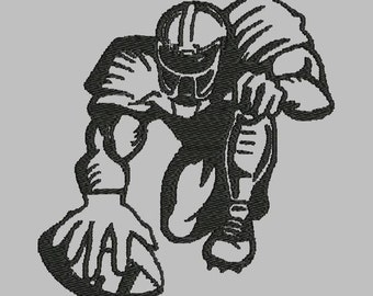 AMERICAN FOOTBALLER EMBROIDERY file   4x4   5x5   7x7