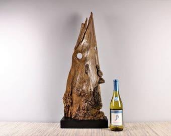 Wood Sculpture, Forest Sculpture , Driftwood Sculpture : Forest Spirit 18022