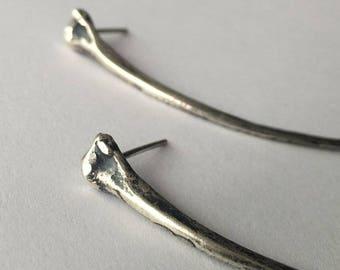 Sterling Python Rib Earrings