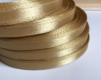 Gold ribbon Wedding decorations Gold Satin ribbon 1/4 in 3/8 in gold trim Gift Wrapping Gold Invitation card trim