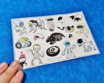 Robot Friends Sticker Sheets