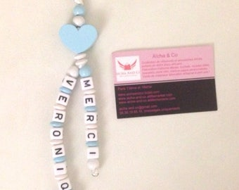 Key heart personalized two names