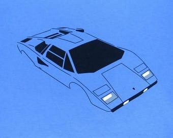 Lamborghini Countach LP400 sports car T-shirt
