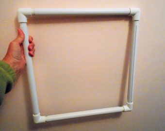 """Large Square 17"""" Quilting Hoop Frame Embroidery Hoop Frame Adjustable Store-able White Plastic PVC?"""