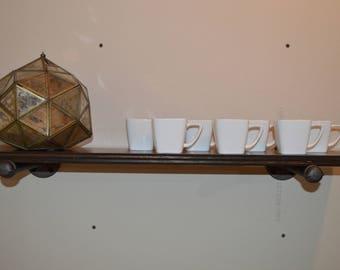 Black Iron Pipe Floating Shelf