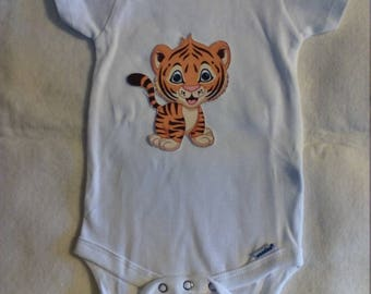 Tiger Onesie for Baby Boy or Baby Girl