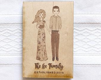 Custom Family Portrait- Magnet