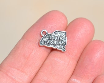 5 Silver State of South Carolina Charms SC2717