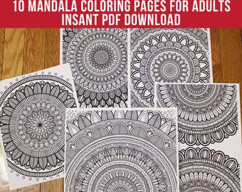 Colouring Pages Pdf For Adults : Art therapy printable adult coloring book downloadable pdf