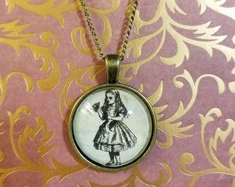 Vintage Replica Alice in Wonderland pendant necklaces