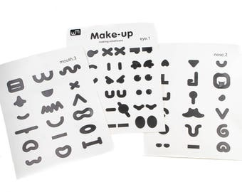 Set of 3 sheets make up stickers.