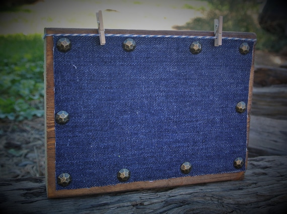 Denim Decor Rustic Home Decor Wooden Photo Frames Farmhouse Picture Frame  Clothespin Frames 4x6 Photo Display 4 X 6 Picture Frame Photo Cube From ...