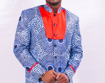 African clothing, African Men Blazer, African Ankara Jacket, men Blazer/Jacket, African Men Suit/Blazer, African fashion,  Men's Jacket